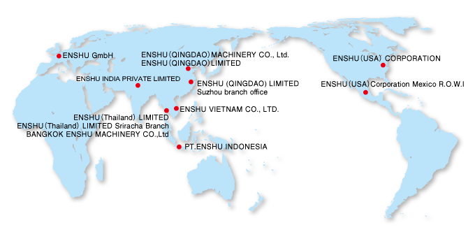 Overseas Business Location | ENSHU Limited